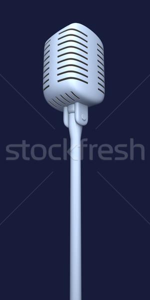 Mikrofon 3d illusztráció zene rádió koncert beszéd Stock fotó © Spectral