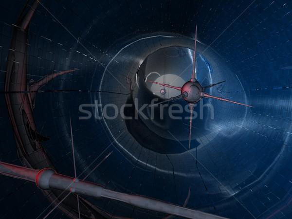 Nano tech digitale landschap tonen drie Stockfoto © Spectral