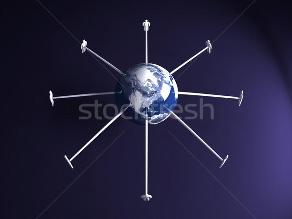Сток-фото: глобальный · Америки · 3D · оказанный · иллюстрация