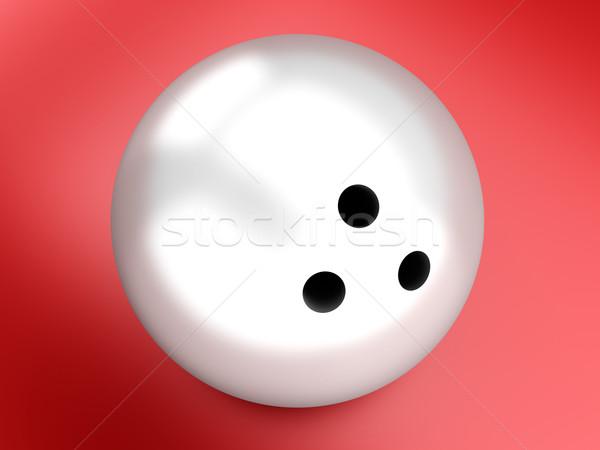 Bowling ball 3D świadczonych piłka cyfrowe graficzne Zdjęcia stock © Spectral