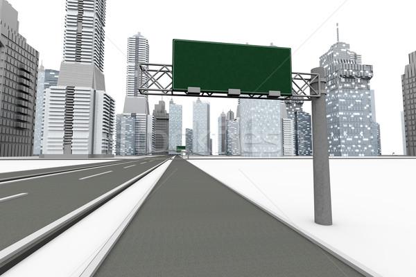 дороги город 3d иллюстрации изолированный белый строительство Сток-фото © Spectral