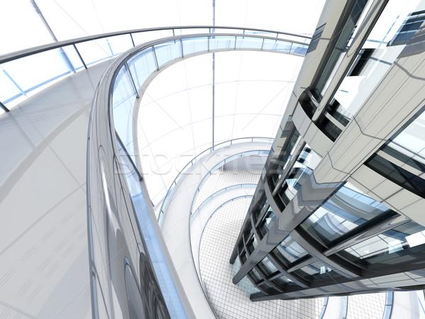 未来的な アーキテクチャ サイエンスフィクション 3D レンダリング 実例 ストックフォト © Spectral
