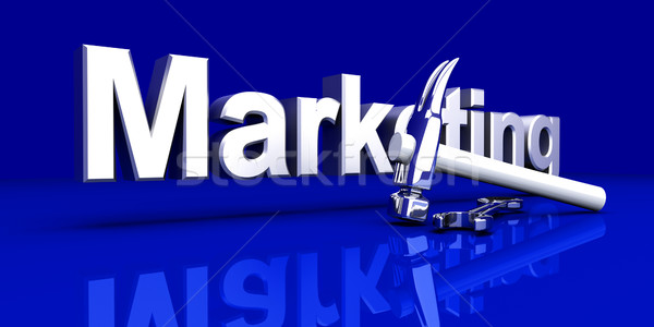 Marketing outils 3D rendu illustration construction Photo stock © Spectral