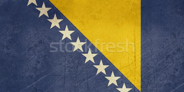 Foto stock: Grunge · Bosnia · Herzegovina · bandera · país · oficial · colores