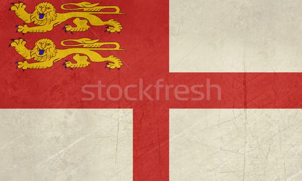 Grunge Sark Flag Stock photo © speedfighter