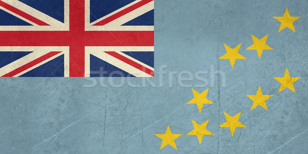 Grunge Tuvalu bandeira país oficial cores Foto stock © speedfighter