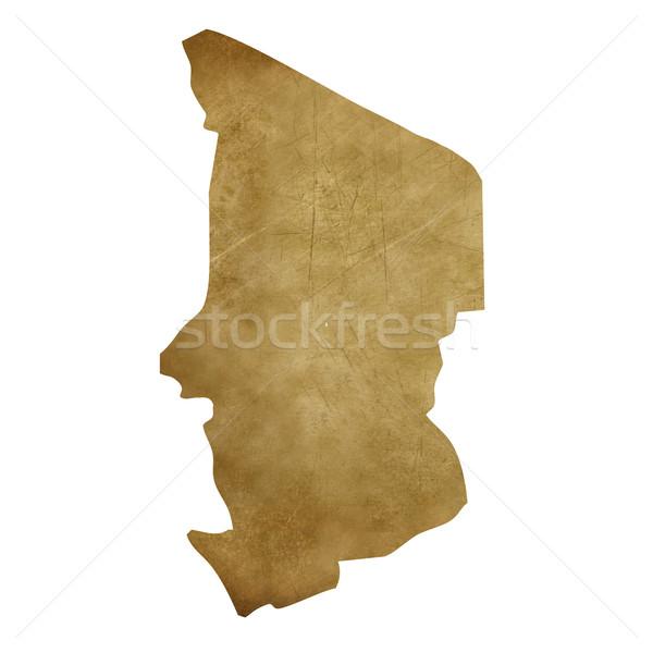 Chad grunge mappa del tesoro mappa tesoro stile Foto d'archivio © speedfighter