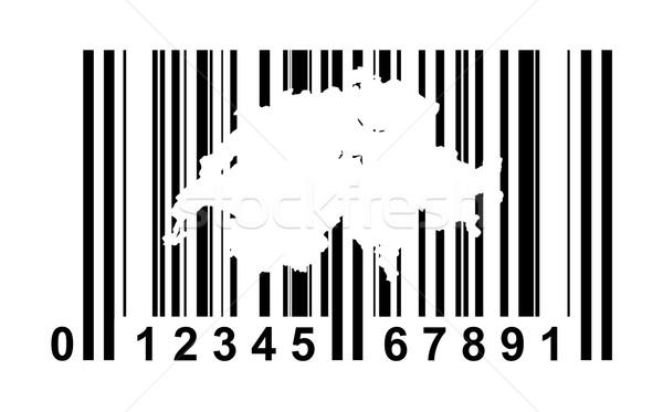 Zwitserland streepjescode winkelen geïsoleerd witte business Stockfoto © speedfighter