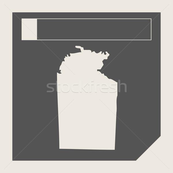 Ausztrália északi terület térkép gomb reszponzív Stock fotó © speedfighter
