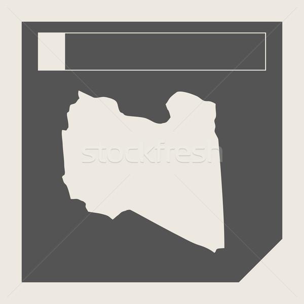 Libia Pokaż przycisk czuły web design odizolowany Zdjęcia stock © speedfighter