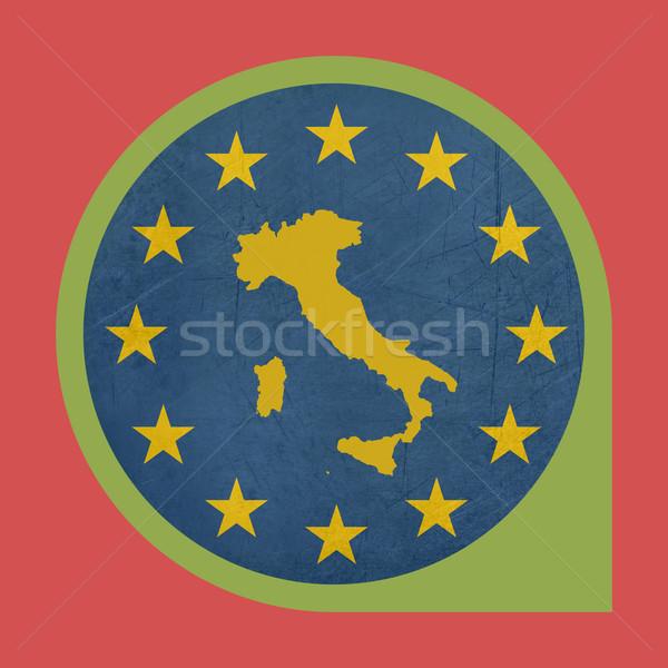 European Union Italy marker button Stock photo © speedfighter