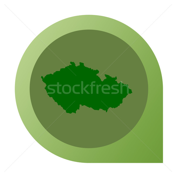 Isolated Czech Republic map marker pin Stock photo © speedfighter