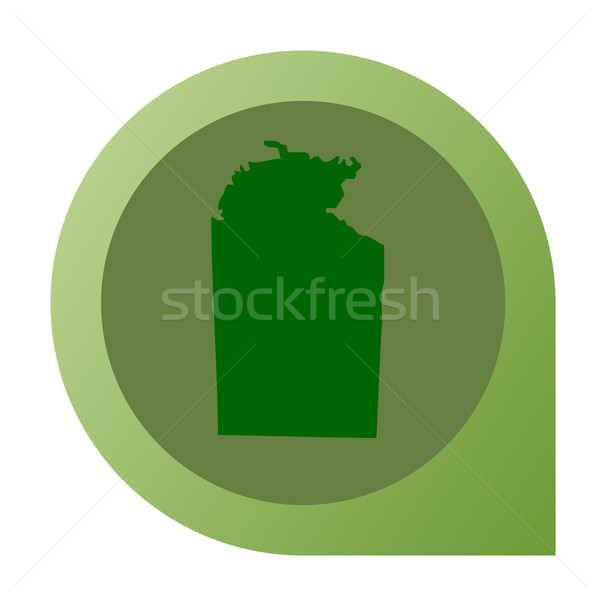 Isolated Northern Territory in Australia map marker pin Stock photo © speedfighter