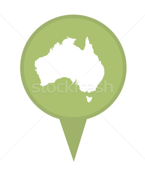 Australia map marker pin Stock photo © speedfighter