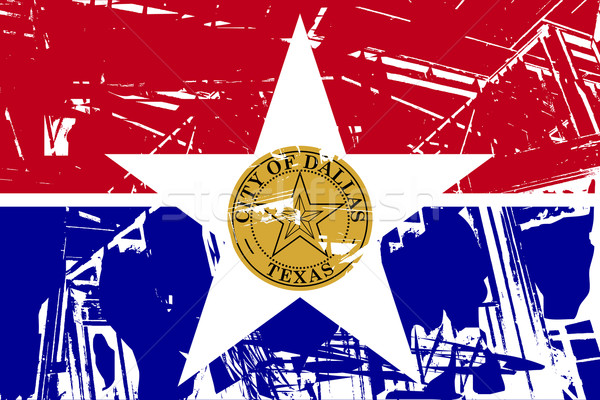 Dallas stad vlag reizen stempel banner Stockfoto © speedfighter
