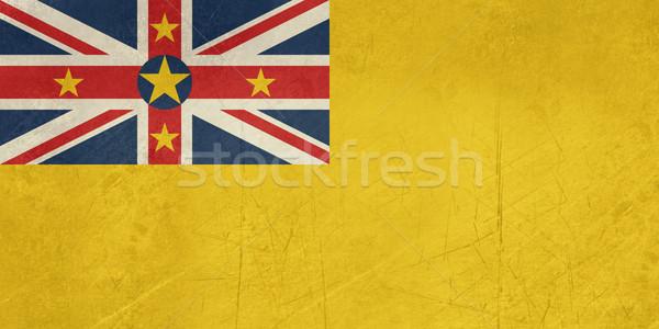 Stock photo: Grunge Niue Flag