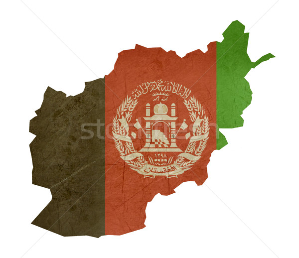 Grunge flag map Afghanistan Stock photo © speedfighter