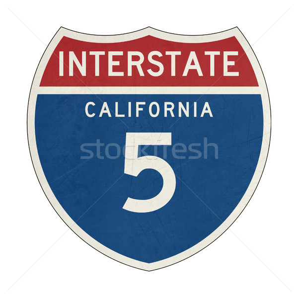 Grunge Californie interstate signe de route autoroute Photo stock © speedfighter