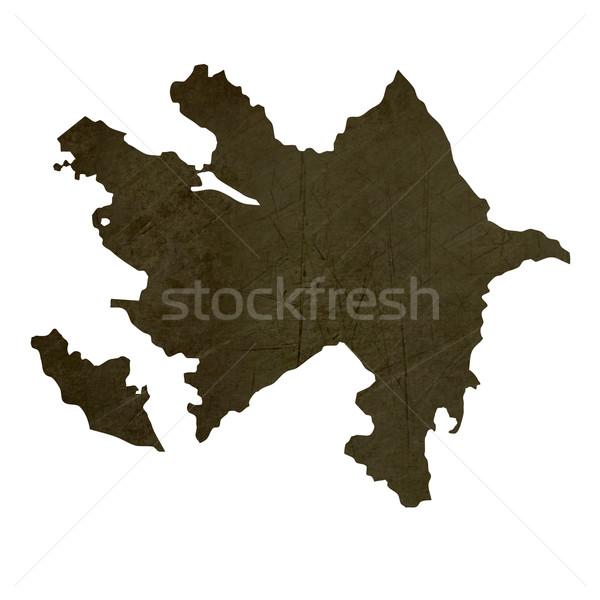 Stock fotó: Sötét · térkép · Azerbajdzsán · mintázott · izolált · fehér