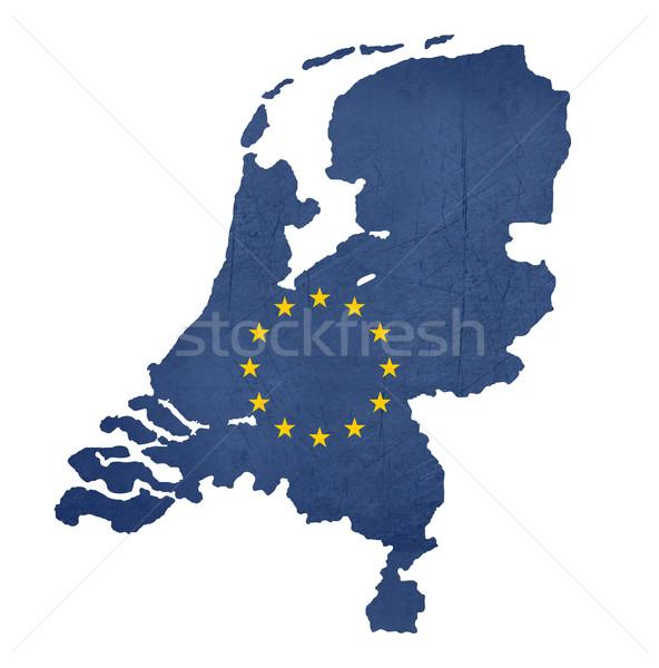 European flag map of Netherlands Stock photo © speedfighter