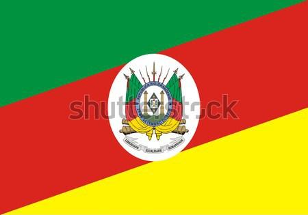 Flag of Rio Grande do Sul state in Brazil Stock photo © speedfighter