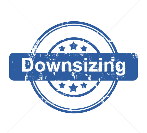 Downsizing business concept stamp Stock photo © speedfighter