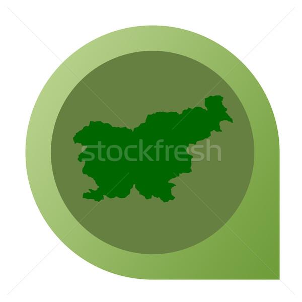 изолированный Словения карта маркер Pin веб-дизайна Сток-фото © speedfighter