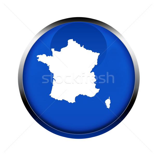 Franciaország térkép gomb szín európai zászló Stock fotó © speedfighter