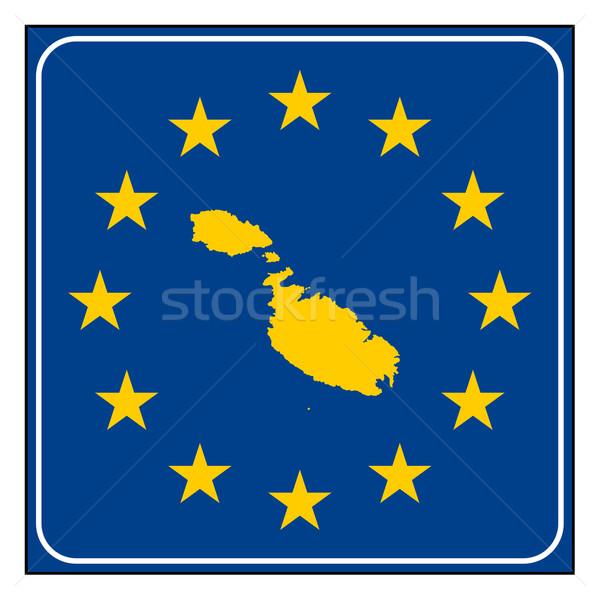Malta europejski przycisk Pokaż niebieski Zdjęcia stock © speedfighter