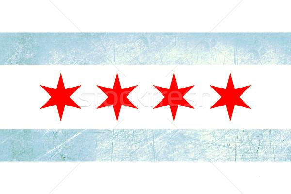 Grunge Chicago bandiera città Louisiana USA Foto d'archivio © speedfighter