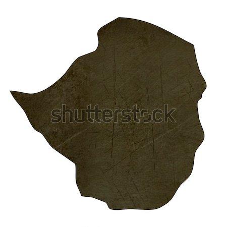 темно карта Берег Слоновой Кости изолированный белый Сток-фото © speedfighter