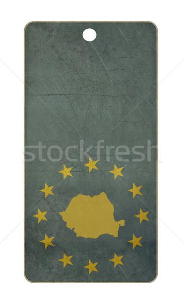 Rumunia podróży tag odizolowany biały kopia przestrzeń Zdjęcia stock © speedfighter
