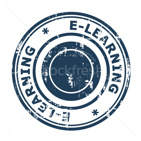 E-Learning concept stamp Stock photo © speedfighter