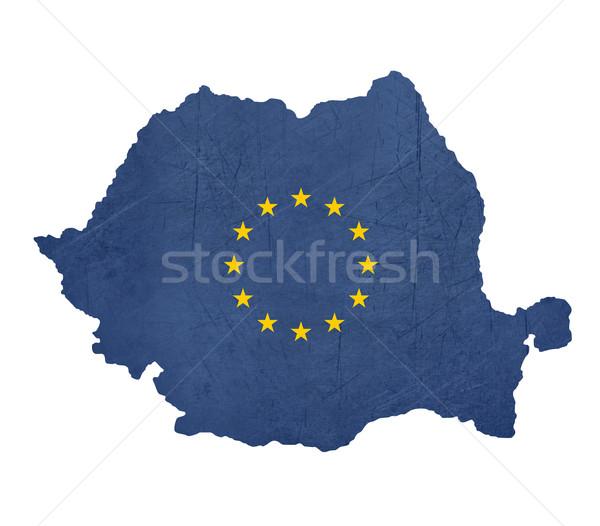 European flag map of Romania Stock photo © speedfighter