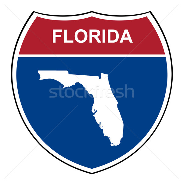 Floride interstate autoroute bouclier route Photo stock © speedfighter