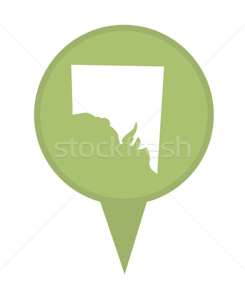 Southern Australia State map marker pin Stock photo © speedfighter
