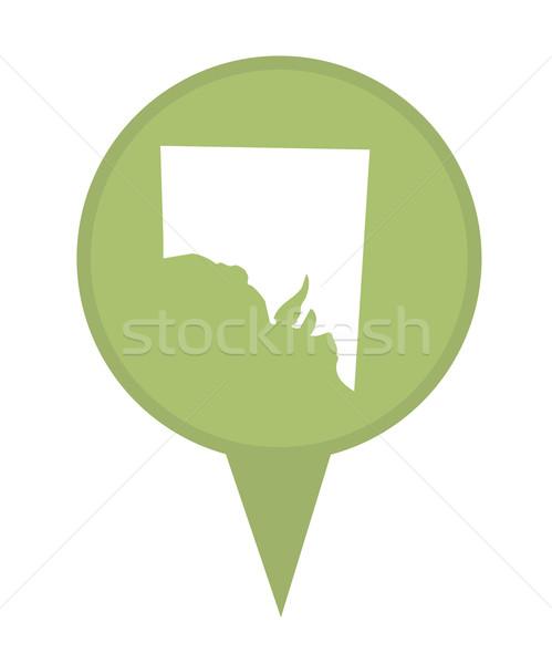 Stock photo: Southern Australia State map marker pin