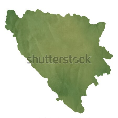 Bosnia and Herzegovina map on green paper Stock photo © speedfighter