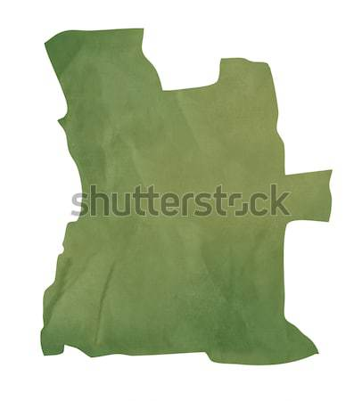 Old green paper map of Angola Stock photo © speedfighter