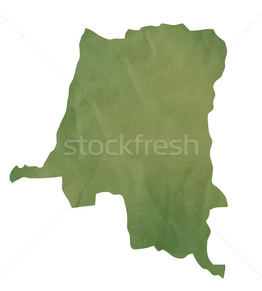 Old green paper map of Zaire Stock photo © speedfighter