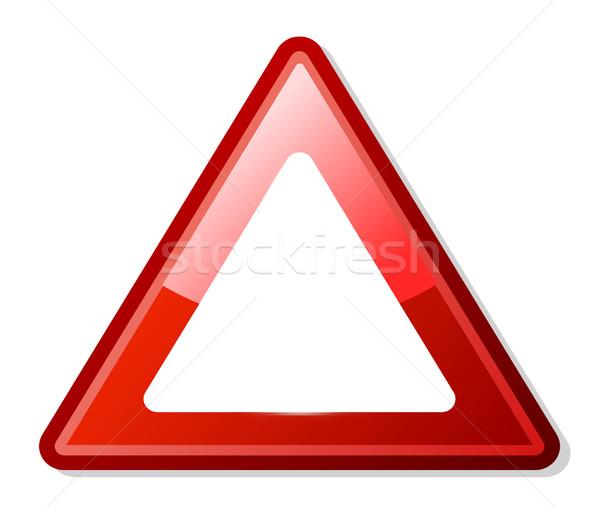 Piros háromszög figyelmeztető jel copy space fehér ötlet Stock fotó © speedfighter
