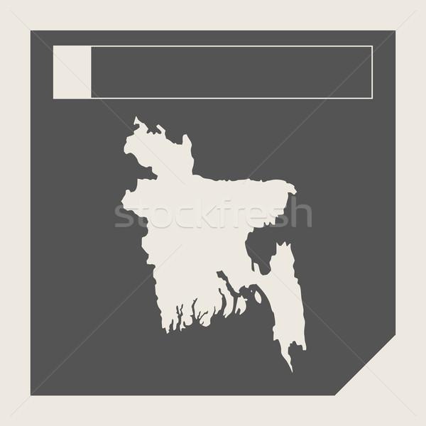 Bangladesh mapa botão responsivo web design isolado Foto stock © speedfighter