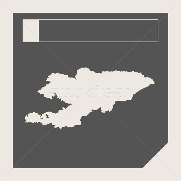 Kırgızistan harita düğme duyarlı web tasarım yalıtılmış Stok fotoğraf © speedfighter