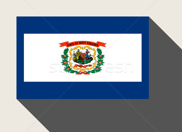 Amerikaanse West Virginia vlag web design stijl knop Stockfoto © speedfighter