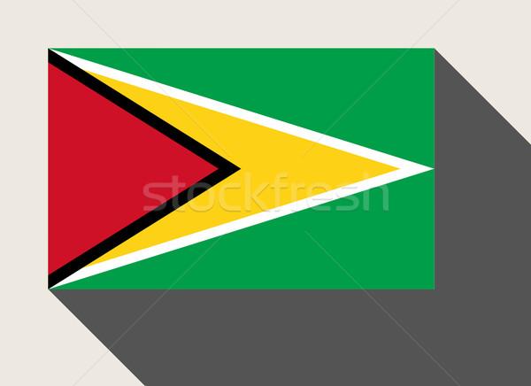 Guyana vlag web design stijl kaart knop Stockfoto © speedfighter