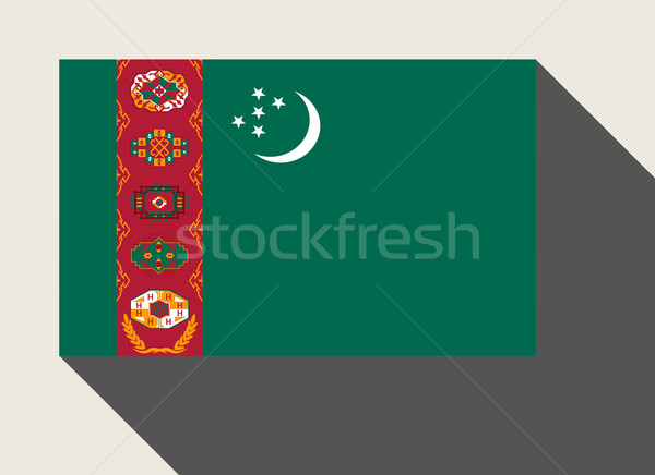 Turkmenistan vlag web design stijl knop Stockfoto © speedfighter