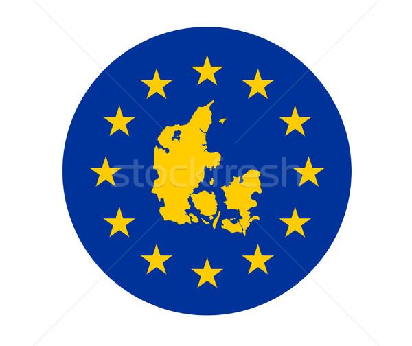 Denmark European flag Stock photo © speedfighter
