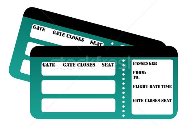Blank boarding card passes Stock photo © speedfighter