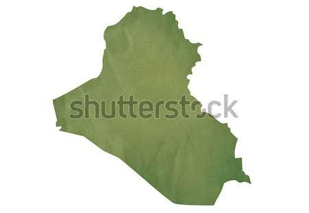 Old green map of Iraq Stock photo © speedfighter