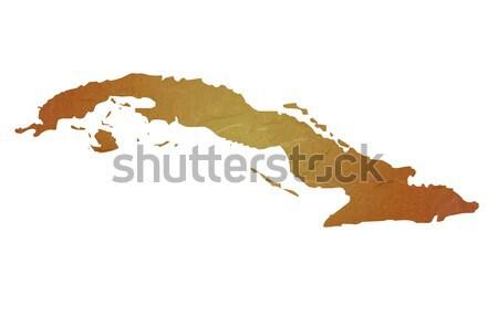 карта Куба коричневый рок каменные Сток-фото © speedfighter
